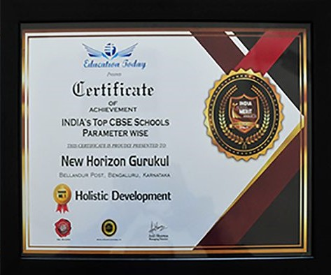 New Horizon Gurukul is Ranked No.1 in India under the Top CBSE School – Parameter wise for 'Holistic Development'
